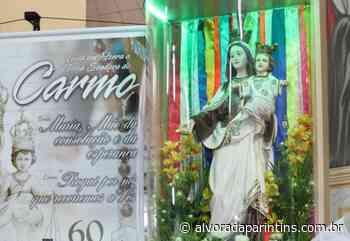 Unidades hospitalares de Parintins recebem imagem peregrina de NS do Carmo - Alvorada Parintins