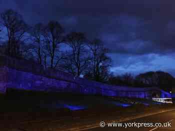 York bar walls turn blue to mark NHS birthday