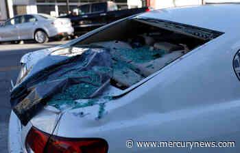 San Jose: Construction site scaffolding collapses onto car - The Mercury News