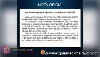 Matelândia registra a primeira morte por Covid-19 - Guia Medianeira