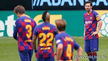FC Barcelona: Stars um Lionel Messi gehen auf Trainer Quique Setien los - SportBILD
