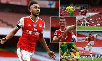 Arsenal 4-0 Norwich: Pierre-Emerick Aubameyang hits brace and Cedric Soares scores