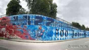 """""""Schlacht bei Ampfing"""" als Mammut-Graffiti - BR24"""