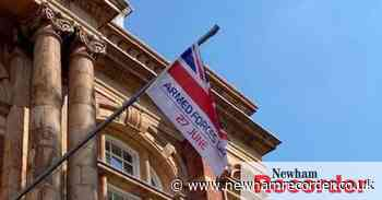 Armed Forces Day flag raised outside Newham's town halls - Newham Recorder
