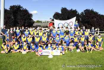 Les jeunes rugbymen du RC Riom ont couru 2.024 secondes dans le cadre de la journée olympique en vue des Jeux de Paris 2024 - Riom (63200) - La Montagne