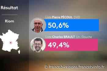 Municipales 2020 à Riom (Puy-de-Dôme) : le maire sortant Pierre Pécoul réélu avec 50,59% des suffrages - Franceinfo