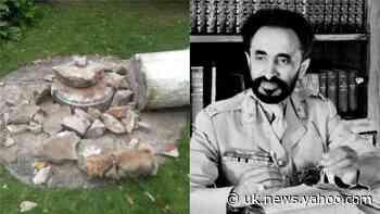 Statue of former Ethiopian leader Haile Selassie destroyed in Wimbledon park