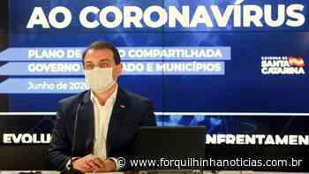 Governador Carlos Moisés testa positivo para a Covid-19 - Forquilhinha Notícias