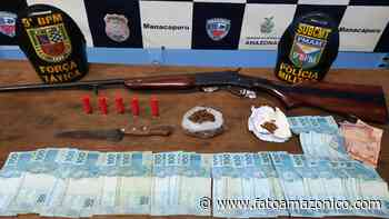 Homem é detido com arma, droga e dinheiro em Manacapuru - Fato Amazônico