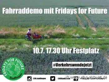 Stadthagen: Fridays for Future Fahrraddemo startet am Festplatz - SHG-Aktuell.de
