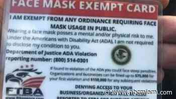 South Florida Restaurants Warned About Fake IDs Claiming  Holder Doesn't Have to Wear Mask