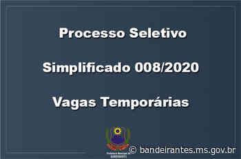 Processo Seletivo Simplificado 008/2020 (Convocação) - Bandeirantes – MS
