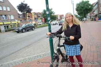 Bahnhofstraße ohne durchgängigen Radweg - Elisabeth Steinfeld appelliert an die Gemeinde: Gefahren für Radfahrer - Kreiszeitung Wochenblatt
