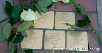 Weitere Stolpersteine erinnern in Usingen an vertriebene jüdische Mitbürger - Usinger Anzeiger