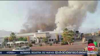 Incendio consume planta del Parque Industrial Rocafuerte en Guaymas, Sonora - Noticieros Televisa