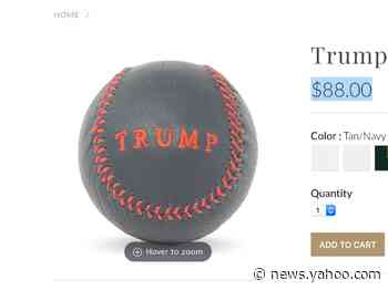 People are concerned that an $88 baseball sold on the Trump Organization's merch page could be a secret message to white supremacists