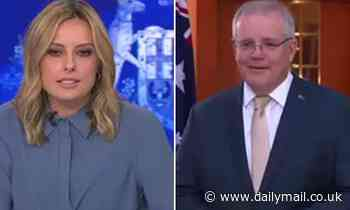 Awkward moment Scott Morrison doesn't realise he's on live television - Daily Mail