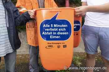 In Freiburg wurden Mülleimer mit frechen Sprüchen aufgestellt - Regenbogen