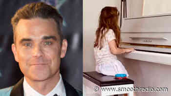 Robbie Williams and Ayda Field's 7-year-old daughter Teddy impresses on the piano - Smooth Radio