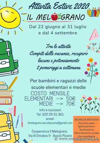Ascoli Piceno, partite le attività estive de Il Melograno - Marche News 24