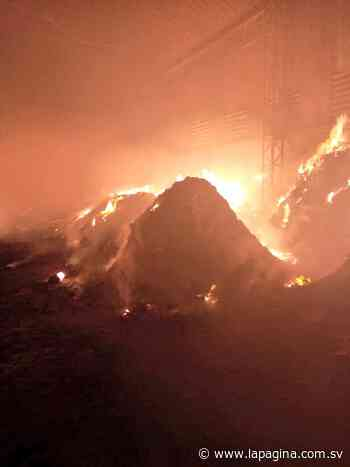 Bomberos atienden incendio en una empresa agroindustrial en Olocuilta - Diario La Página