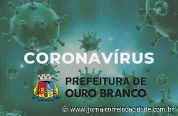 Com quatro novos casos confirmados de Covid-19, Ouro Branco atinge 72 positivos   Correio Online - Jornal Correio da Cidade