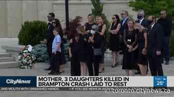Mother, 3 daughters killed in Brampton crash laid to rest - CityNews Toronto