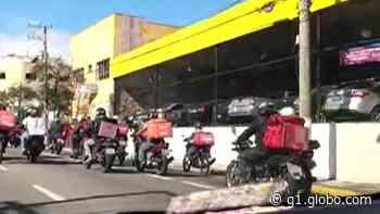 Motoboys protestam em Mogi das Cruzes por melhores condições de trabalho - G1
