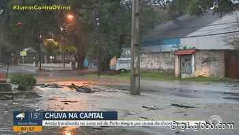 Porto Alegre registra transtornos devido à chuva; instituições emitem alertas sobre temporais com vento forte no RS - G1