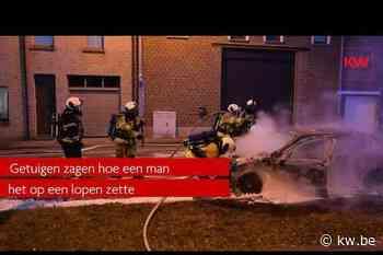 Mercedes vliegt in brand in Menen - Krant van Westvlaanderen