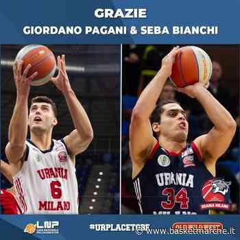L'Urania Milano saluta e ringrazia Sebastiano Bianchi e Giordano Pagani - Serie A2 - Basketmarche.it