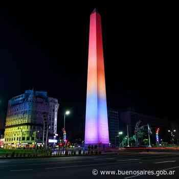Día del Orgullo: la Ciudad ilumina monumentos con los colores de la bandera LGBTIQ+ - buenosaires.gob.ar