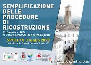 Il commissario per la ricostruzione Legnini a Spoleto per spiegare le novità dell'Ordinanza 100 - Spoleto Online