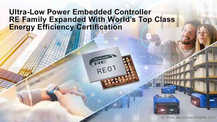 Renesas adds SOTB-based controller to RE line-up