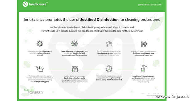 InnuScience urges cleaning and FM sectors to practice 'Justified Disinfection'  post-lockdown