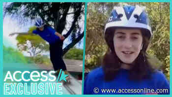 14-Year-Old Skateboarding Prodigy Minna Stess Shows Off Her Skills - Access
