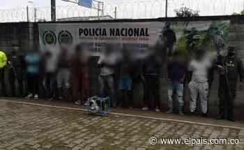 Capturan nueve hombres dedicados a la minería ilegal en Palmira - El País
