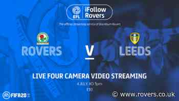 Match pass: Rovers v Leeds United
