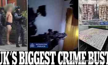 UK's biggest-ever crime bust arrests 746 and foils 200 murders
