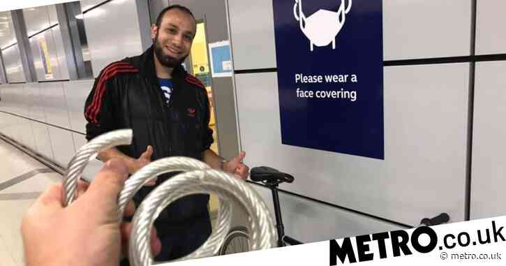 Rail worker saved man's bike from thief then waited hours after shift to return it