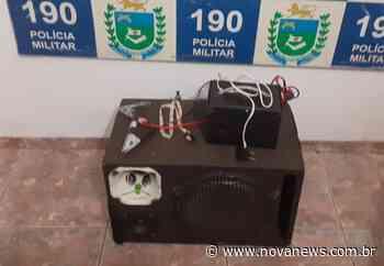 Perturbação de sossego - Polícia Militar apreende equipamento de som em Nova Andradina - Nova News - Nova News