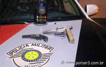 Duas armas são apreendidas pela Força Tática em bairro de Pindamonhangaba - PortalR3