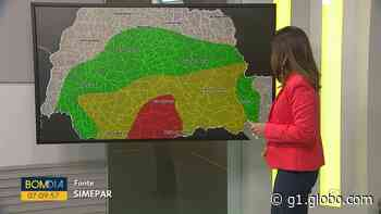 Morador de Palmas registra chuva congelada que atingiu a cidade - G1