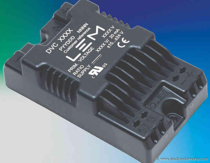 1kV isolated voltage sensors meet IRIS for rail traction