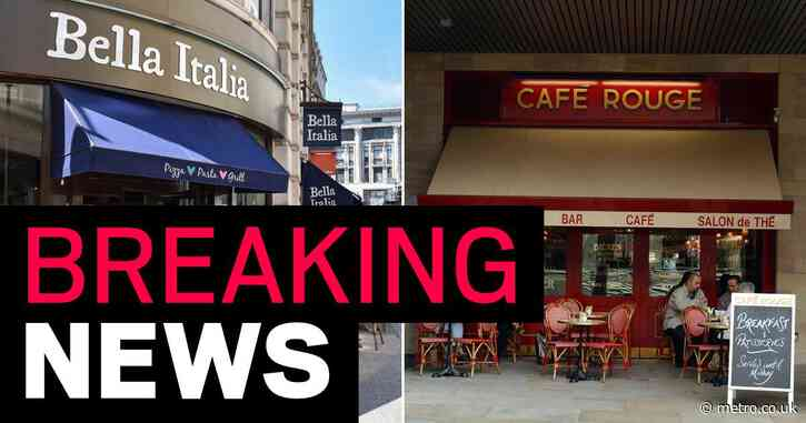 Cafe Rouge, Bella Italia and Las Iguanas won't reopen 91 restaurants