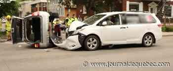 [PHOTOS] Collision impressionnante dans Limoilou