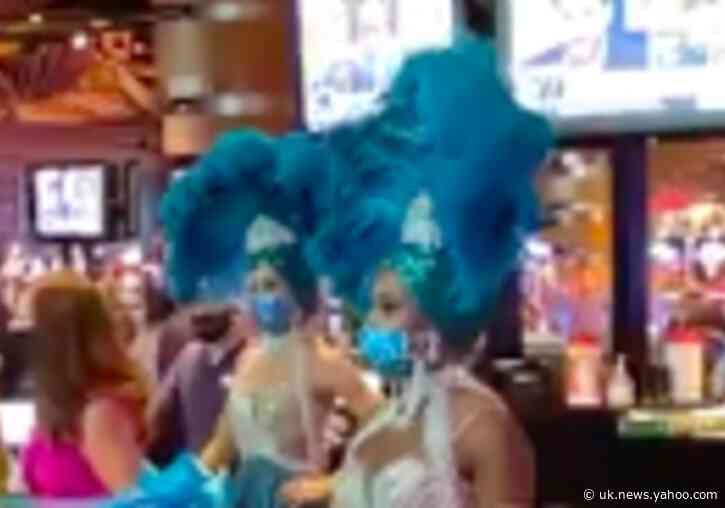 Showgirls in Sequined Masks Reopen Atlantic City Casino Ahead of July 4