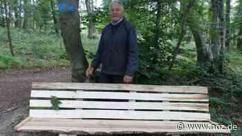 87-jähriger Meller trotzt dem Vandalismus: Neue Bank gebaut - noz.de - Neue Osnabrücker Zeitung
