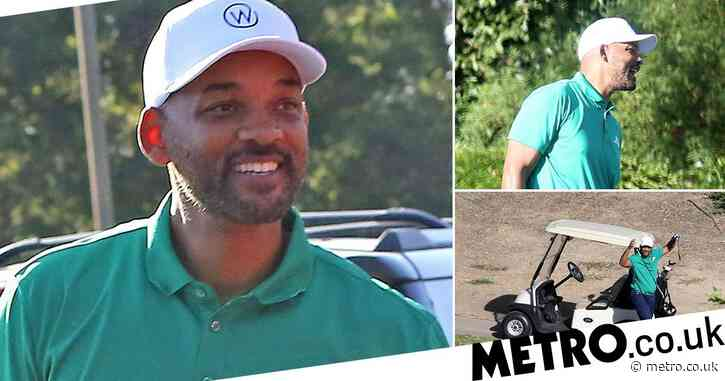 Will Smith all smiles as he brushes off Jada Pinkett Smith affair claims with golf game