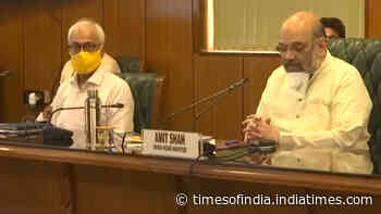 Amit Shah reviews Covid-19 situation in NCR with CMs of Delhi, UP, Haryana
